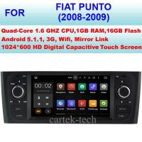 Quality 2008 2009 Google On Line Fiat DVD Player Double Din Car Stereo Sat Nav Fiat Punto Radio for sale