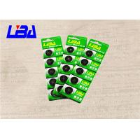 Best Electronics Button Cell 3 Volt Battery , Lithium Coin Battery In Card Package 190mAh wholesale