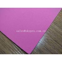 Quality 1mm Thick High Elastic Pink SBR Thin Neoprene Fabric EVA with Polyester Jersey Coating Rubber Sheet for sale