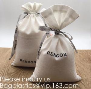 Quality Double Canvas Drawstring Bag Cotton Pouch Gift Sachet Bags Muslin Bag Reusable Tea Bag,Organic Cotton Reusable Produce B for sale