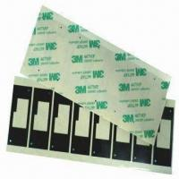 China Mold Cut Adhesive Black Mylar Film with 0.075 to 0.35mm Thickness on sale