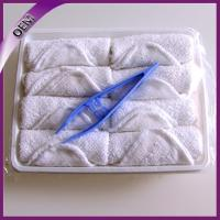 Quality high quality white cotton airline roll towel 25*25cm for sale