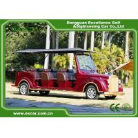 Quality Luxurious Red G1S8 Electric Classic Cars 4 Row For 8 Passenger for sale
