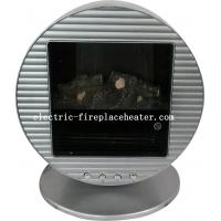 China Energy Efficient Silver Freestanding Portable Electric Fireplace 1KW / 2KW For Living Room on sale