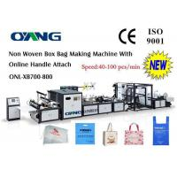 China Computer Control Non Woven Bag Making Machine , Handle Bag Making Machine on sale