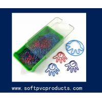 Quality Cute PVC Paper Clip Promotion Bookmark Clips for Business , College , Office , School for sale