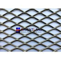 Quality Heavy Duty Carbon Steel Expanded Metal Mesh / Architectural Metal Mesh Fabric for sale