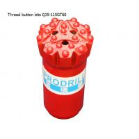 Buy GT60 15 buttons 115mm tungsten carbide hard rock drilling thread button bits for mining at wholesale prices