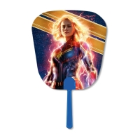Quality Famous USA Star 16x17cm 3d Hand Fan Custom Lenticular Printing With White Handle for sale