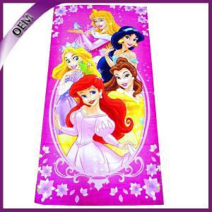 Quality 100% Cotton Printing Disney Princess Velour Beach Towel 70*140cm for sale