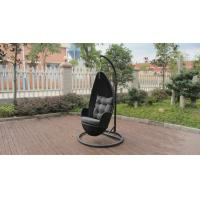 China Aluminum Frame And Black Rattan Swing Chair For Outdoor Garden on sale