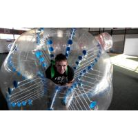 China Tpu Clear Blue Inflatable Water Sports Soccer Ball ,  Durable button on sale