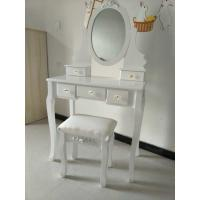 Quality Contemporary Big White Wooden Target Dressing Table for sale