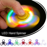 Best ABS + Plastic LED Light Finger Spinner Helpful To Relax Effectively wholesale
