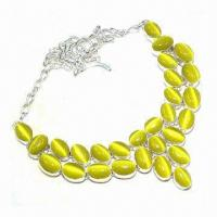 Buy cheap Fashionable Opal Necklace, Suitable for Weddings, Parties and Gifts from wholesalers