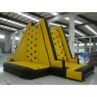 China Family Indoor Inflatable Climbing Wall 0.55mm PVC tarpaulin For Children on sale