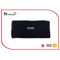 China Multi Layer Black Mens Knitted Snood Scarf With Customize Woven Label on sale