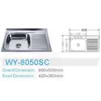 Quality Estonia stainless steel kitchen sink 80*50CM for sale