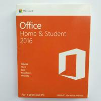 China Microsoft Office 2016 Home and Student  Package & Key Card & Product Key For windows- 1 PC License on sale