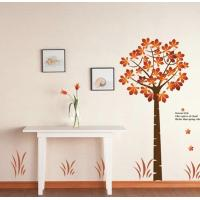 Quality Eco-Friendly Red Tree Removable Wall Stickers Vinyl For Gift for sale