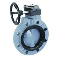 Worm actuated flange butterfly valve