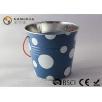 China Multi Function White Burning Candle / Indoor Mosquito Candles With Iron Bucket on sale