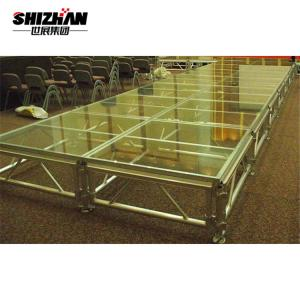 Quality High Loading Capacity Portable Acrylic Temporary Live Show Stage Floor for sale