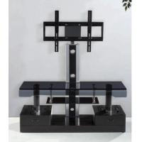China Elegant Tempered Glass TV Stand LCD Holder with Two Drawers , Corner Modern TV Stands on sale
