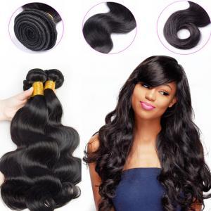 China 1B Color Peruvian Human Hair Bundles Machine Double Weft Tangle Free on sale