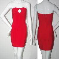 Quality cheap wholesale factory supply sexy red ladies dress bandage dress for sale
