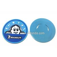 Quality Soft pvc rubber silicone coaster custom MICHELIN round promotional coaster for Mcdonald KFC Starbucks for sale
