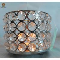 Best Crystal drop candle holder , large home decor candle holders round Shape wholesale