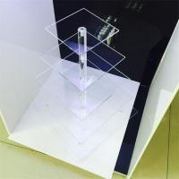 China clear acrylic 5 tier square cake display racks cupcake stand for birthday cake display rac on sale