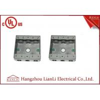 """Quality 1/2"""" 3/4"""" Holes Waterproof Conduit Box Aluminum Die Casting UL Listed for sale"""