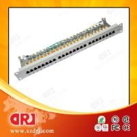 China Home Network 24 Port Cat5e Patch Panel 19 STP 150 Volts ISO CE on sale