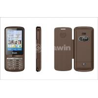 China Brown dual sim card phone  , bar cell phone with 850Hz / 900Hz / 1800Hz / 1900MHz on sale