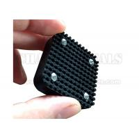 Buy Rectangular Shock Absorption Black Silicone Rubber Bumpers With Metal Bonded at wholesale prices