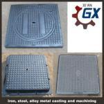 Quality ductile cast iron square manhole cover for sale