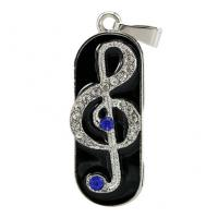 Quality Music Note Design Custom Usb Flash Drives , Personalized Thumb Drive Pendrive for sale