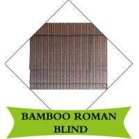 Quality Waterproof Exterior Bamboo Roll Up Shades Natural Dyed Color Hotel Use for sale