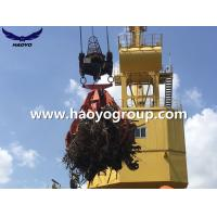 Quality 6.3m3 Steel scrap Handling Electro hydraulic orange peel scrap grab bucket for sale