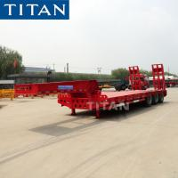 China TITAN Low Bed Semi Trailer with Tridem Pendel Axles Lowbed Trailer on sale