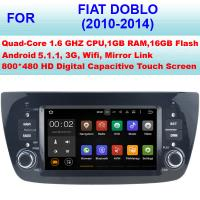 Quality Quad Core 1.6GHZ Automotive Doblo Fiat DVD Player In Dash GPS Stereo 2010 - 2014 for sale