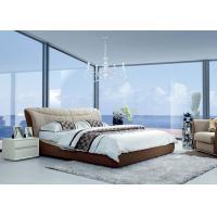 Quality Contemporary MFC / MDF Modern Upholstered Bed  King Size Bed 1800*2000mm for sale