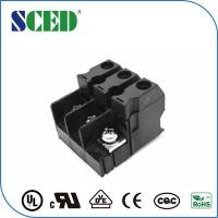 Quality 3 Pin Feed Through Terminal Block Pitch 12.7mm 600V PC Black for sale