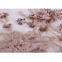 Buy cheap Embroidery Beaded Dress Mesh Lace Fabric 100% Polyester With Free Sample from wholesalers