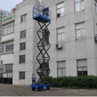 Quality Manganese Steel Mobile Scissor Lift  Electrical Pulling Loading 450kg for sale