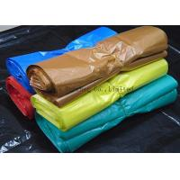 Quality Recyclable Supermarket Custom Printed Plastic Shopping Bags With Handles Multi Color for sale