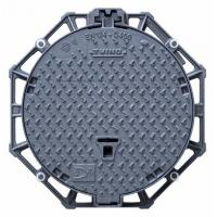 Quality Hinged Pavement Cast Iron Manhole Cover Round Ductile With Locking System for sale