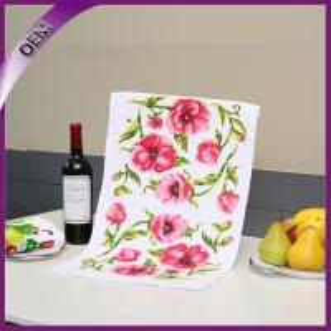 Quality Flower Sublimation Printing Kitchen Microfiber Towel,Dish Towel,Tea Towel for sale